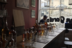 Getting everything ready for a Gin and Cocktail bar tasting night
