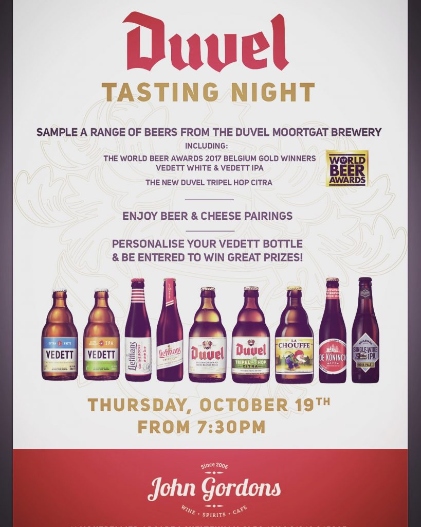 Duvels Tasting Night at John Gordons