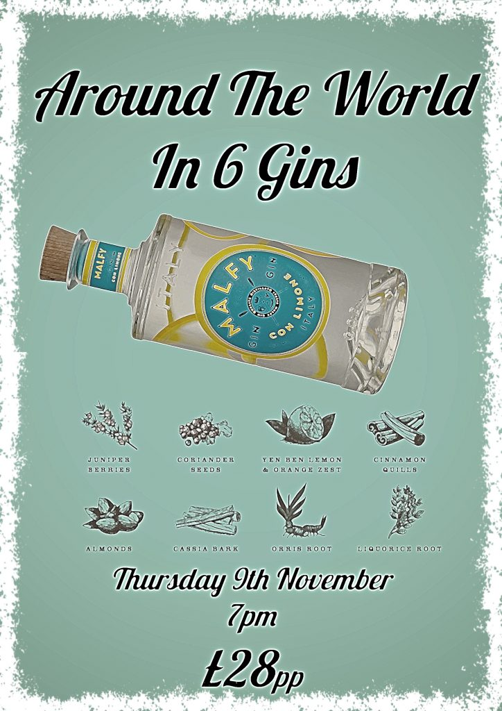 Around the World in 6 Gins at John Gordons Whisky and Wine Bar in Cheltenham