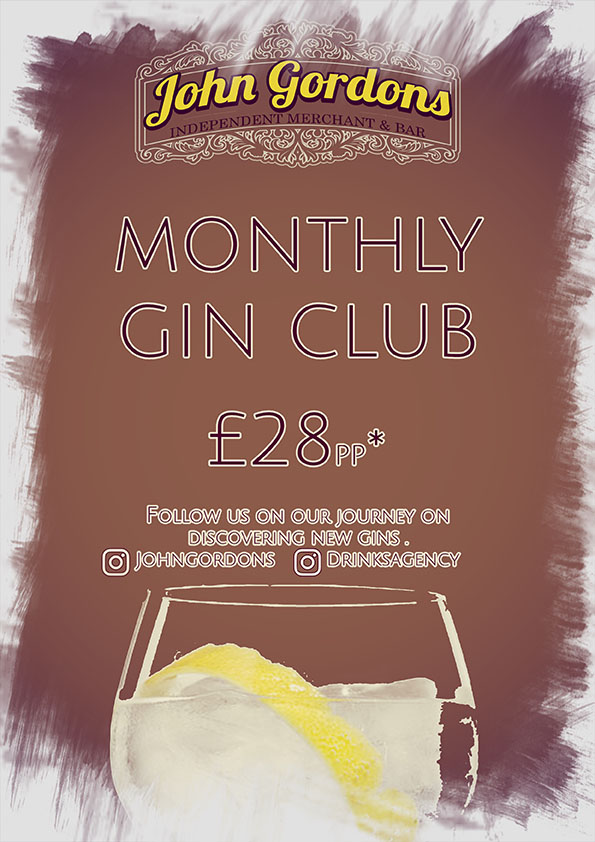 Monthly Gin Club at John Gordons Cheltenham